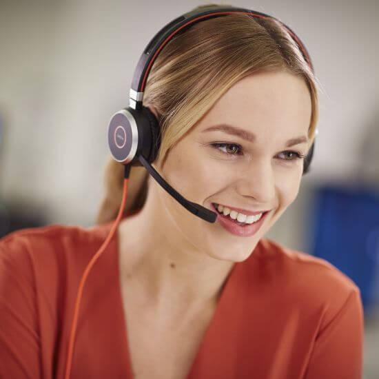 Tai nghe Jabra Evolve 40 tốt cho chăm sóc khách hàng
